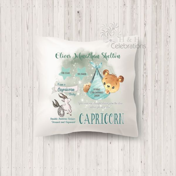 Capricorn - Baby Star Sign Keepsake Cushion